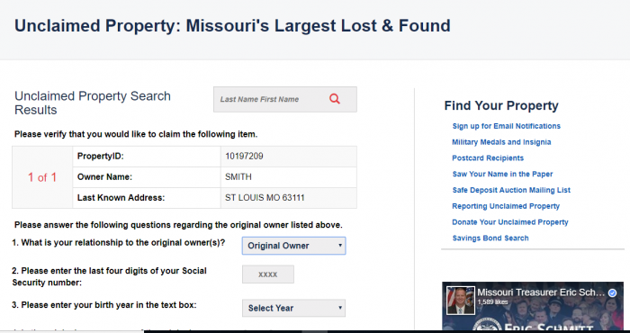 Missouri Unclaimed Money (2019 Guide)   Unclaimedmoneyfinder org