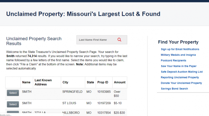 Missouri Unclaimed Money (2019 Guide) | Unclaimedmoneyfinder org