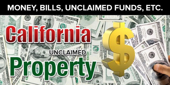 unclaimed property california