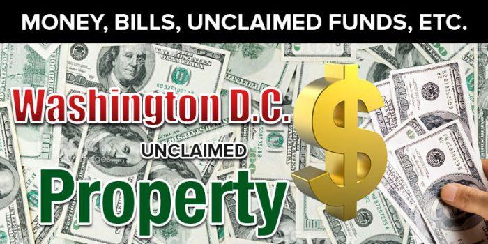 washington d.c. unclaimed property